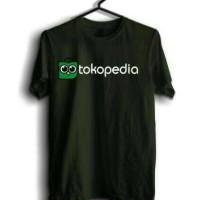 Baju, Tshirt, Kaos oblong pria Logo Tokopedia