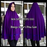 Jual Bergo Pita / Jilbab Kerudung Syari Hijab Instan Murah