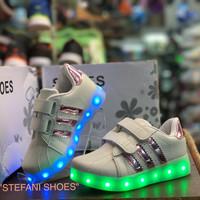 sepatu anak wanita led shoes paling murah new model bisa dicharger/cas