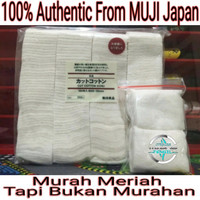 100% Organic Cotton From Muji Japan 60 x 50 Ecru (* Kapas Vape Vapor