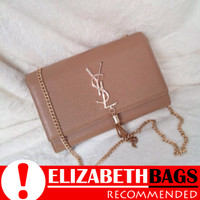 6fd3667202 Tas Wanita Selempang Import Branded YSL Tassel Clutch (Mocha)