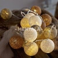 Jual Cotton Ball Light Brown Tone LED Baterai / LED Colokan / Tumblr Lamp Murah
