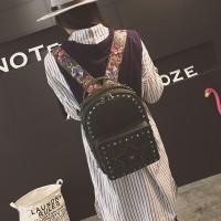 Ransel Kulit Fashion Import Wanita MD 786 Hitam