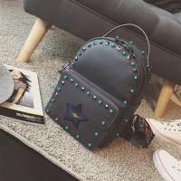 Ransel Kulit Fashion Import Wanita MD 786 Abu