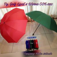 Payung Golf Warna Lipat 4 Merek Osaka / OSK-303 free Tas