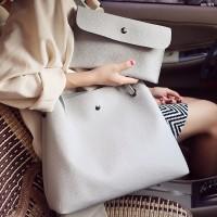 Tas Kulit Fashion Import Wanita MD 871 Abu