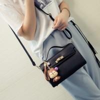 Tas Kulit Fashion Import Wanita MD 676 Hitam