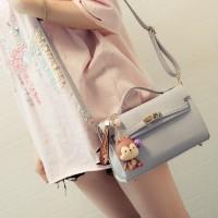 Tas Kulit Fashion Import Wanita MD 676 Abu