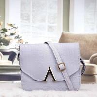 Tas Kulit Fashion Import Wanita MD 809 Abu
