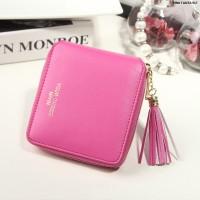 Dompet Kulit Fashion Import Wanita MD 917 Pink