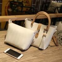 Tas Kulit Fashion Import Wanita MD 870 Putih