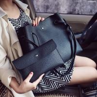 Tas Kulit Fashion Import Wanita MD 871 Hitam