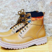 Sepatu Boots Ket's Brown Wood Abu For Safety