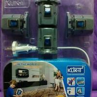 Klik It Stop kontak praktis 4 switch socket & 10 mtr kabel.