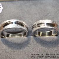 cincin nikah new platinum 90% + emas putih 9k
