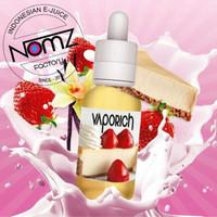vaporich liquid 0mg cheececake with strawberry