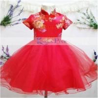 dress anak merah untuk hari raya imlek, good quality