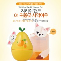 The Face Shop Jikyeojwo Hold Me Hand Cream #01 - Fennec Fox - Mango