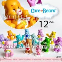 12 Care Bears Figure -Kartun TV Anak-Boneka Beruang Lucu-Warna-VB177