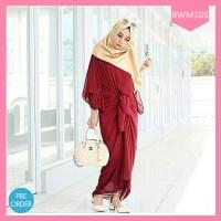 Dress Muslimah Akara Maroon Terlaris