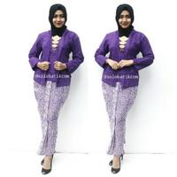 Setelan batik pager ungu