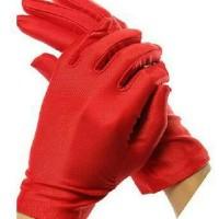 sarung tangan merah polos cosplay import taobao
