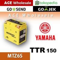 Aki kering gel TTR 150 Yamaha MOTOBATT MTZ6S accu motor u/ GS Yuasa