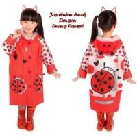 Jas Hujan Anak motif RED BEE (Dengan ruang ransel)