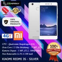 (hot) Xiaomi Redmi 3s Ram 2gb Rom 16gb - Silver - Garansi 1 Tahun