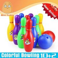 Mainan Edukatif Set Bola Bowling Warna Plastik Tebal