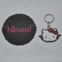 [HELLO KITTY LOGO] Gantungan Kunci/Tas Hama Beads/Mini Beads