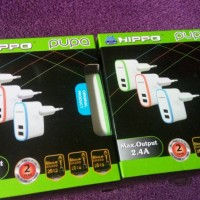 Charger Hippo Pupa 2 Port 2,4A ( iphone Samsung Xiaomi Lenovo )
