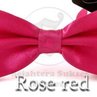 Jual dasi kupu kupu hot pink satin silk cocok utk pesta acara formal Murah