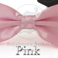 Jual dasi kupu kupu pink satin silk cocok utk pesta acara formal Murah