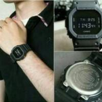 g shock dw 5600 full black hitam gshock dw5600 jam tangan digital