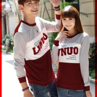 [Cp T-SHirt LVNUO CL] couple babyterry marun