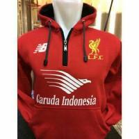 Jual Jaket Hoodie Hodie Klub Bola Liga Inggris Liverpool Garuda Indo Merah Murah
