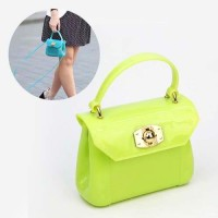 Tas Genggam Anak Furla Jelly Apple Green Model Terbaru Limited B36094
