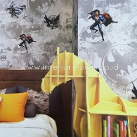 Wallpaper Dinding Anak 'KIDS STORY motif Superman vs batman 8804-2'