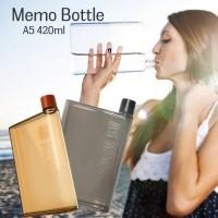 MemoBottle A5 Letter 420ml Botol Minum MemoBottle Tipis Slim Thermos