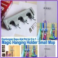 Jual small mop holder gantungan sapu alat pel dengan hook magic hanger home Murah