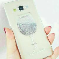 jelly case gerak liquid glitter air gelas wine iphone 5 5s 6 6s 6plus