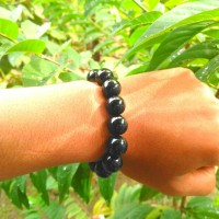 Gelang Kesehatan Batu Giok Hitam / Black Jade Bracelet ... Zena _Shop