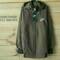 Nike Windrunner Full Brown / Jaket Murah / Grosir Jaket