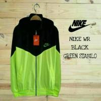 Nike Windrunner Black Green Stabilo / Jaket Murah / Grosir Jaket