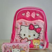Jual Tas ransel SD Hello Kitty dan tempat pensil Murah