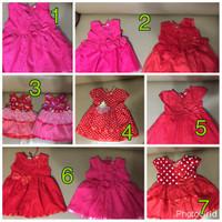 Jual dress baju anak / baby imlek 6 - 12 bulan Murah
