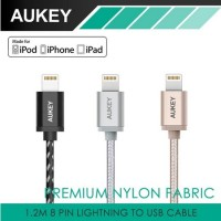 harga Aukey Kabel Mfi Certified Premium Nylon Fabric Usb Iphone Cable Cb-d16 Tokopedia.com