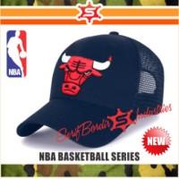 Jual Topi Baseball Bordir Topi Gowes NBA Basket Chicago Bulls Jordan Bordir Murah
