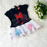 Baju Bayi Perempuan Baju Pesta Anak Dress Bayi Tutu Minnie Mouse Navy